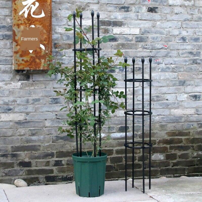 """""""Bastidor de estropajo de marco de escalada de plástico negro con soporte para flor del Metal, estante de mimbre de uva, cenador de jardín de fiesta para escalada"""""""