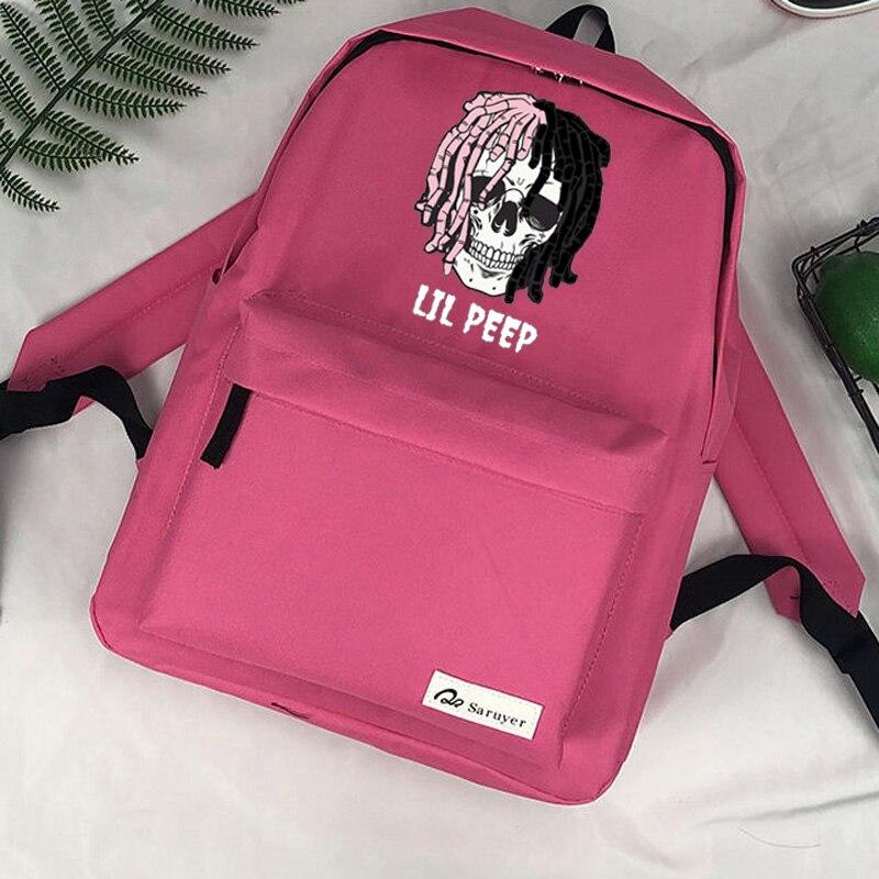 Mochila De Lil Peep para ordenador portátil, morral infantil para viaje
