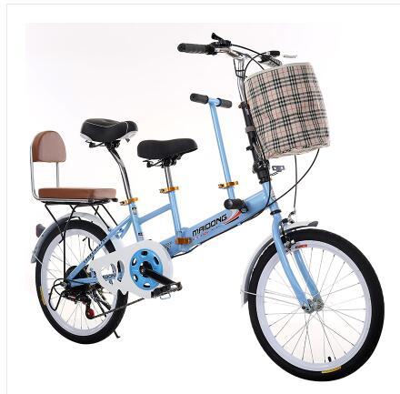 بجولة عربة السفر الدراجة دراجة الوالدين والطفل الأم والطفل دراجة مزدوجة الرجال و المرأة المكوك دراجة مع السفر الدراجة