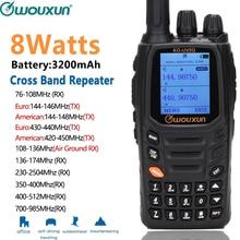 Wouxun KG UV2Q, 8 Вт, высокая мощность, 7 полос/воздушная полоса, поперечный репитер, портативное радио, обновленная KG UV9D, плюс рация, радио
