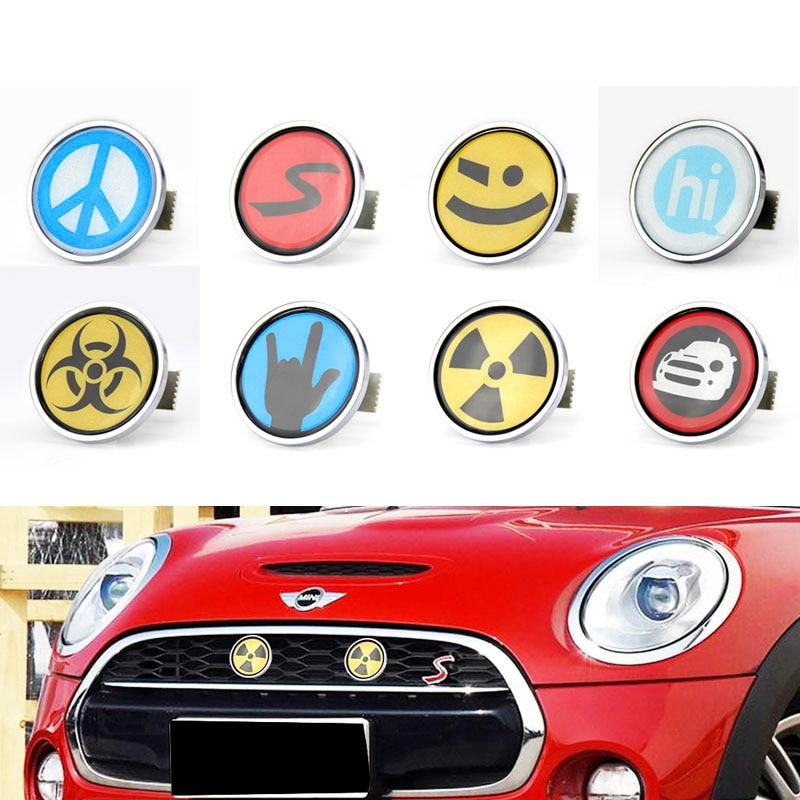 Emblema de parrilla delantera de Metal 3D para coche, insignia, Mini accesorios de cobre, Countryman Clubman