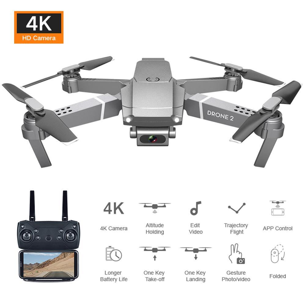 E68 télécommande améliorée Drone grand Angle 4K 720P 1080P HD caméra quadrirotor pliable WiFi FPV quatre axes Drone maintien daltitude