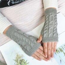 Art und weise Heiße Warme Gestrickte Handschuhe Frauen Winter Leger Handschuhe Für Outdoor Weben Kurzen Arm Ärmel Einfarbig Weiche Handschuhe