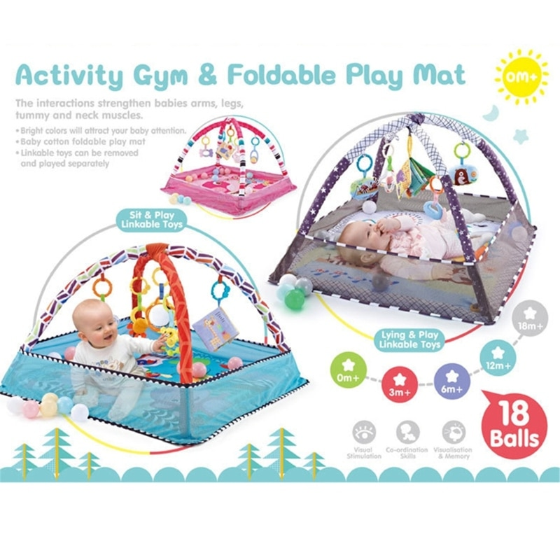 children s mat baby play mat kids rug gym fitness frame activity fence toys Children's Mat Baby Play Mat Kids Rug Gym Fitness Frame Activity Fence Toys Early Education Crawling Game Blanket WXTD