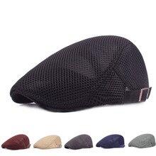 Casquette plate Style rétro réglable coton lin maille pointe chapeau en plein air chapeaux vêtements accessoires