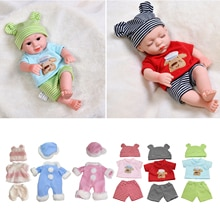 Baby Doll Clothes Cute Jumpsuit Outfits with Hat 30cm Fashion Doll Accessories Set Casual Pajamas Pa