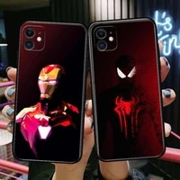 iron man spider man phone cases for iphone 11 pro max case 12 pro max 8 plus 7 plus 6s iphone xr x xs mini mobile cell women