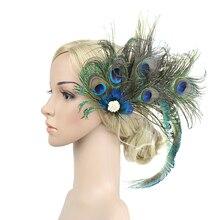 Банкетный зажим для волос для женщин, украшение, долговечный подарок, искусственные перья, свадебные, вечерние, модные, свадебные аксессуары, винтажный павлин