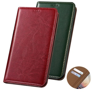 Booklet Wallet Genuine Leather Phone Case For OPPO Realme X50 Pro Plus/Realme X50 Pro 5G/Realme X5 5G Phone Bag With Card Pocket