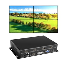 Yiispo 4 채널 tv 비디오 월 컨트롤러 2x2 1x3 1x2 hdmi dvi vga usb 비디오 프로세서 4 tv 접합 용 rs232 제어