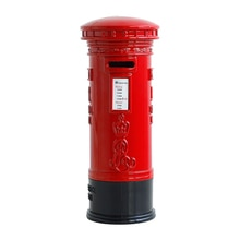 British Piggy Bank Unique Safe High Capacity Mailbox Vintage Durable Money Box Pillar Box Coin Box for Saving Money Kids