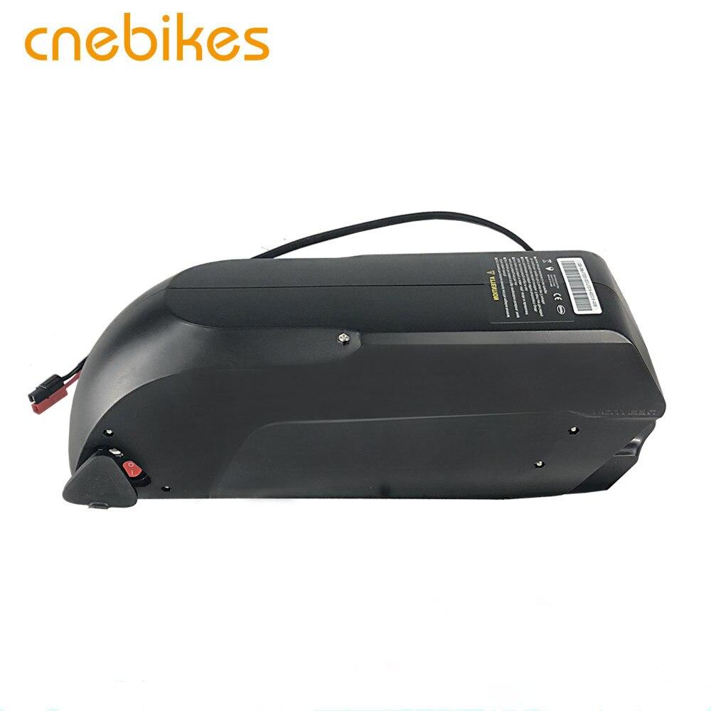 CNEBIKES Venta caliente 52v 14ah batería recargable li-ion 18650 tigershark ebike batería de litio