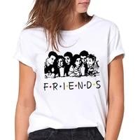 2021 summer t shirts letter friends t shirt friends tv show graphic t shirt women summer short sleeve femme fashion top female
