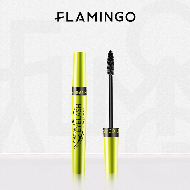 FLAMINGO Makeup Cosmetic Length Mascara Extension Long Curling Eyelash Black Mascara Eyelash Thick Lengthener Makeup Mascara
