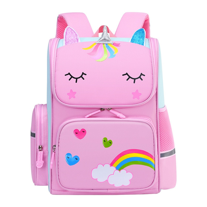 Mochilas 3D Cartoon Unicorn Children School Bags Girls Pink Kids School Backpack Lightweight Waterproof Primary kids Schoolbags