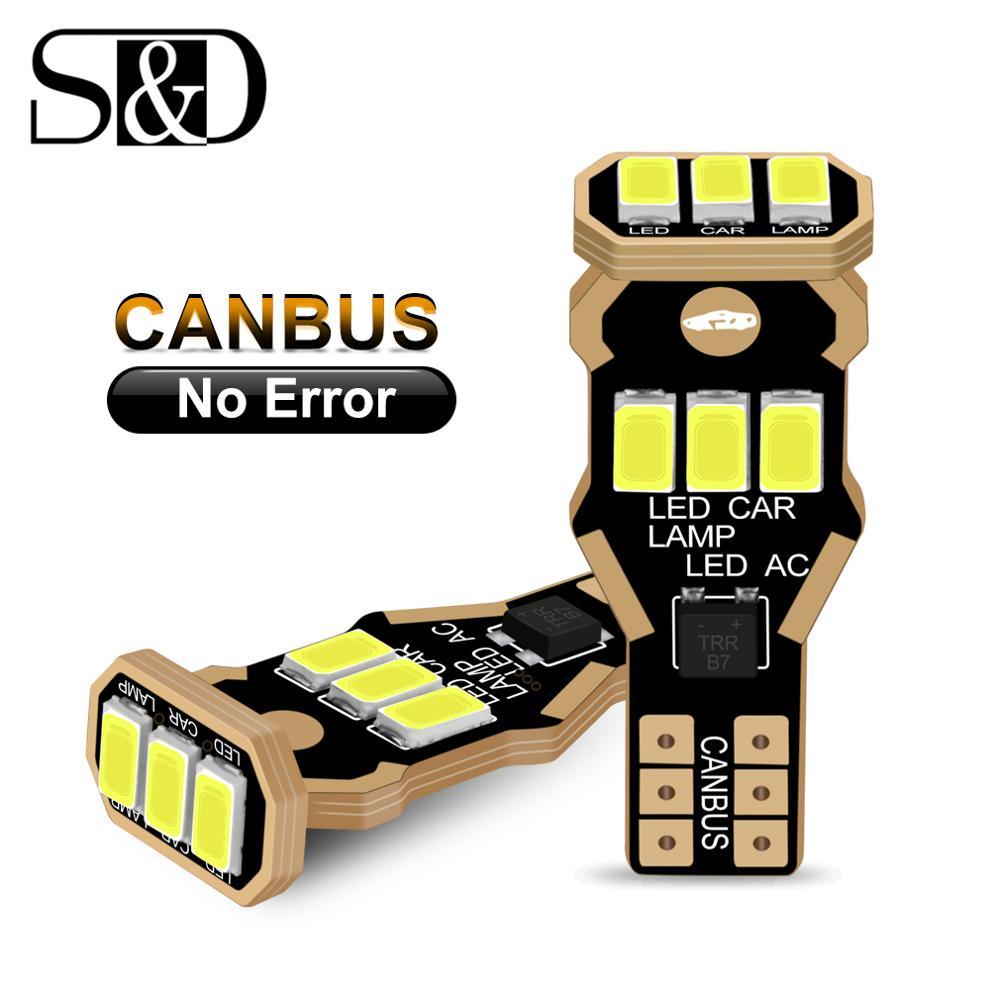 2 uds Canbus T15 W16W bombilla Led 920 921 912 bombillas luces traseras de marcha atrás para automóvil estacionamiento 12V 6000K lámparas blancas para automóvil