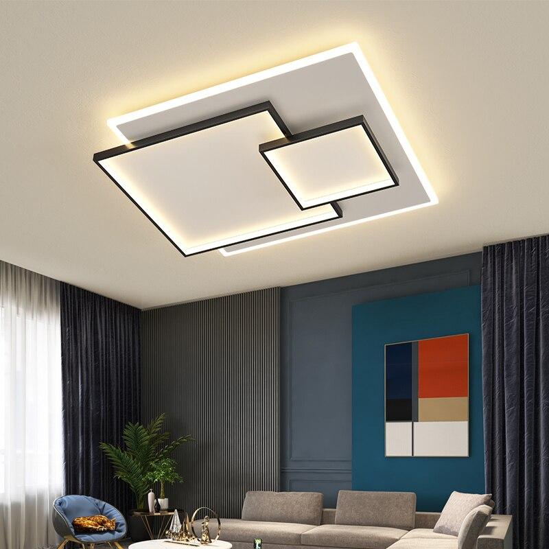 Прямоугольный светодиодный потолочный светильник, вращающийся светильник с регулируемой яркостью для гостиной, спальни, комнатное освеще...