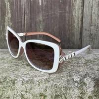 vazrobe white sunglasses women fashion sun glasses for female ladies rosette sweety shades