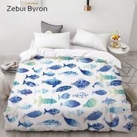 3D Print Custom Duvet Cover fishComforter/Quilt/Blanket case Queen/KingCartoon Bedding for kids/baby/childrendrop ship