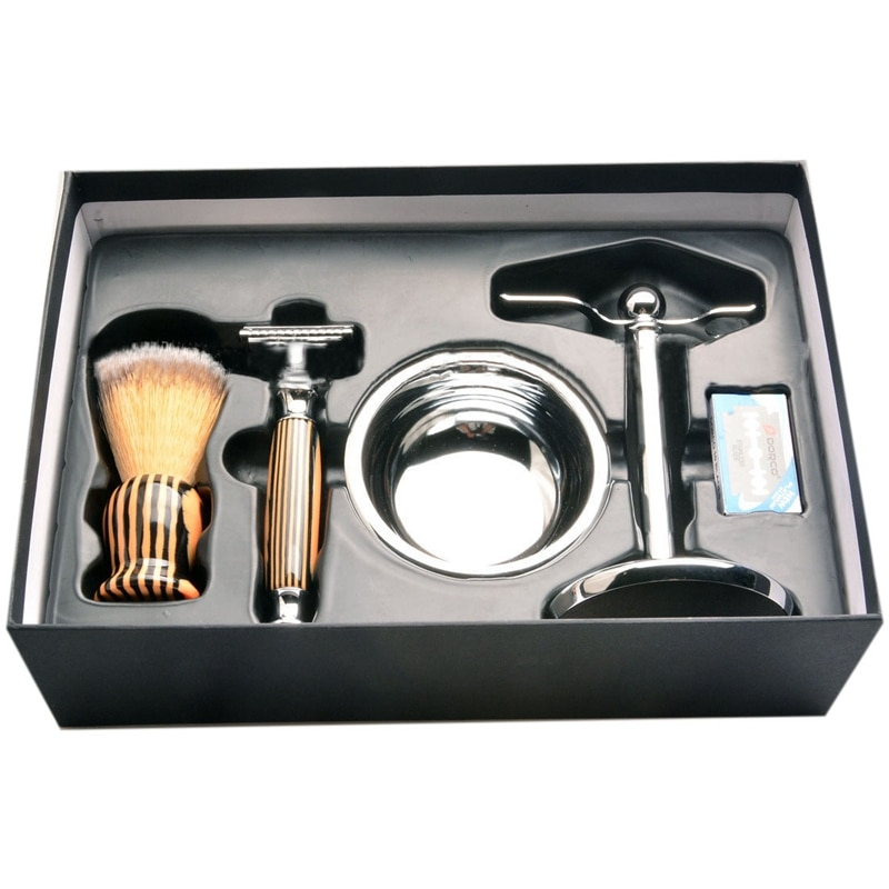 Professional Metal Shaving Stand Holders Foaming Soap Bowl Beard Shaving Tool Set Beard Brush Holder Shaving Cleaning