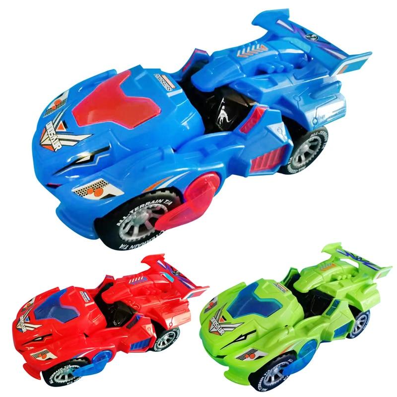 3D déformation LED voiture enfants dinosaure jouets jouer des véhicules avec lumière clignotant musique pour enfants cadeau de noël
