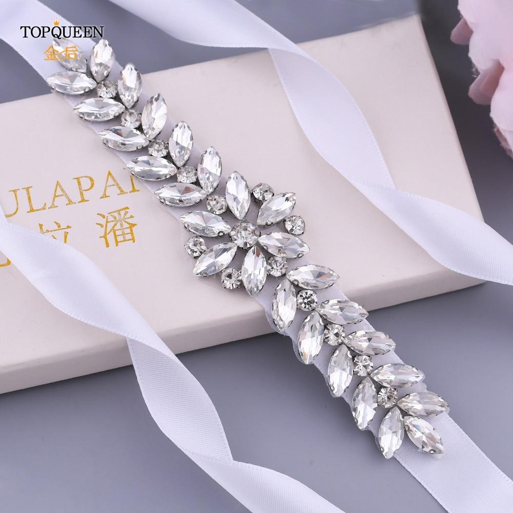 Luxe bruiloft riemen bruids kralen riem strass sjerp trouwjurk - Bruiloft accessoires - Foto 5