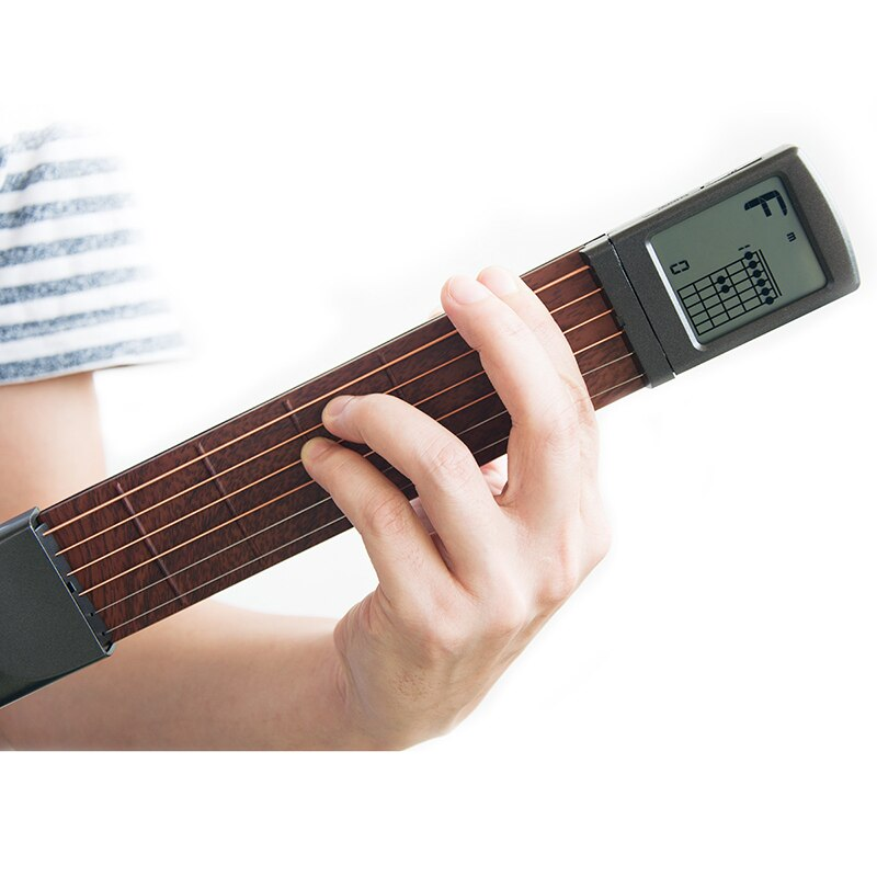 Pocket Guitar Chord Trainer Beginner Practice Tool/Portable with a Rotatable Chords Chart Screen enlarge