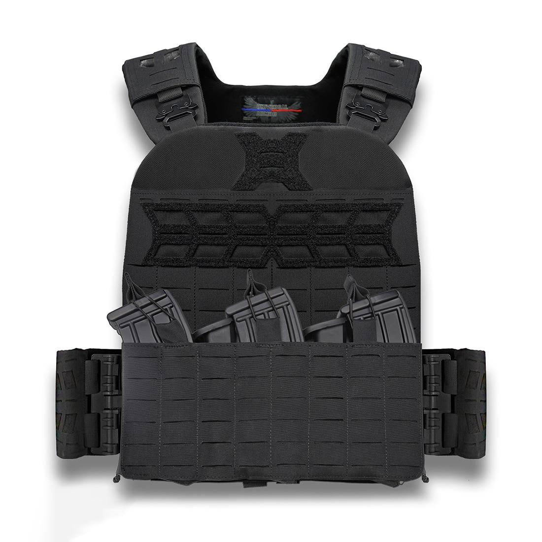 UTA Gen2 Universal Armor Quick Reverse Tactical Vest - Black Flame Retardant Standard Type