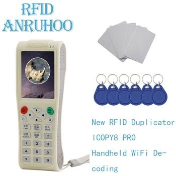 New ICOPY8 Pro RFID Duplicator ICID Smart Chip Wifi Decoder NFC Tag Badge Card Writer 125Khz Clone 13.56Mhz Key Reader Copier