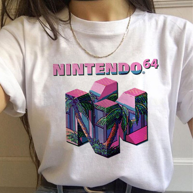 Wodna kolorystyka 90s moda t-shirty damskie Harajuku Ullzang koszulki graficzna zabawna koszulka kreskówka Streetwear koszulki damskie