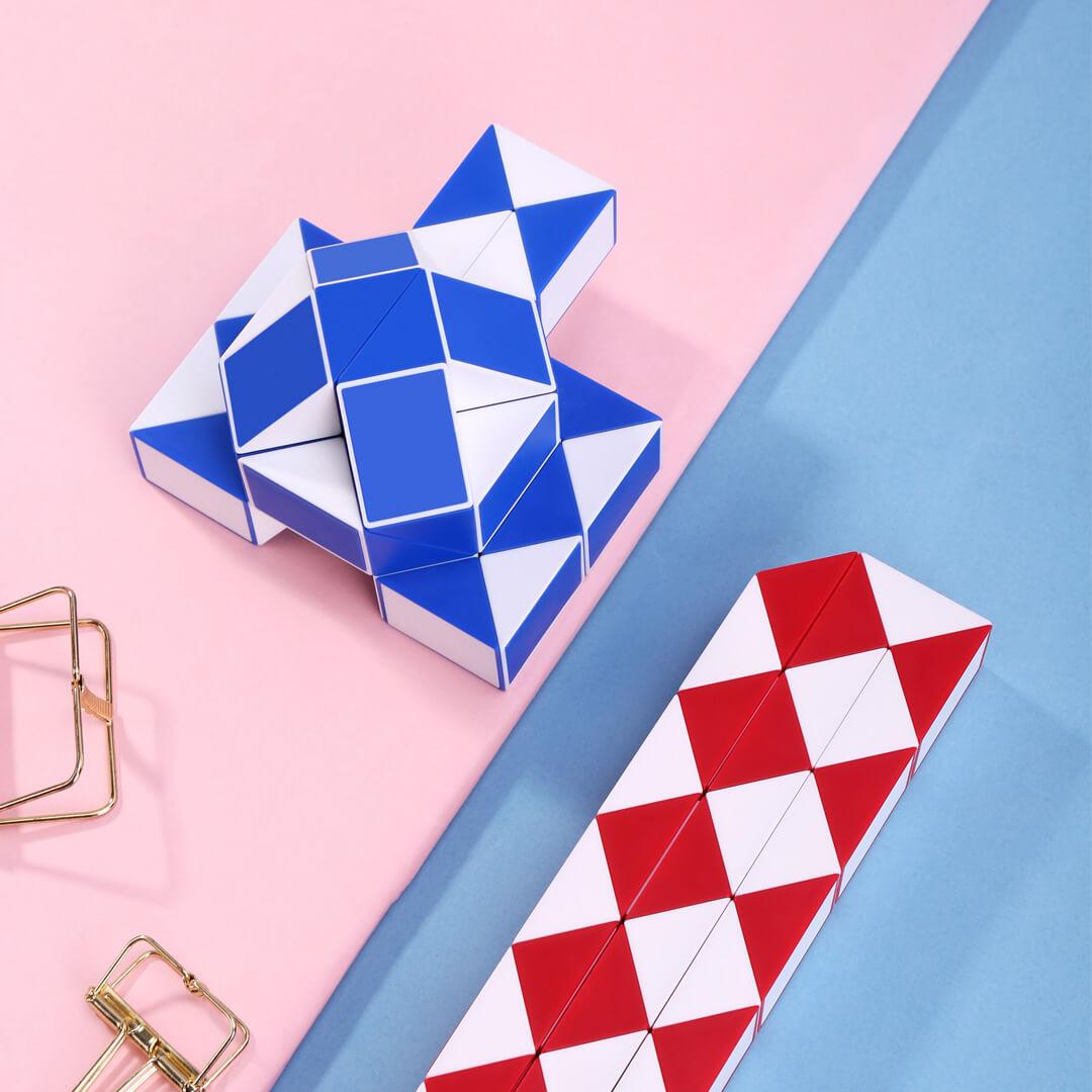 36 абзацев Волшебная Линейка красный и синий случайные головоломки раннего образования Abs Материал игры канцелярские принадлежности весель...