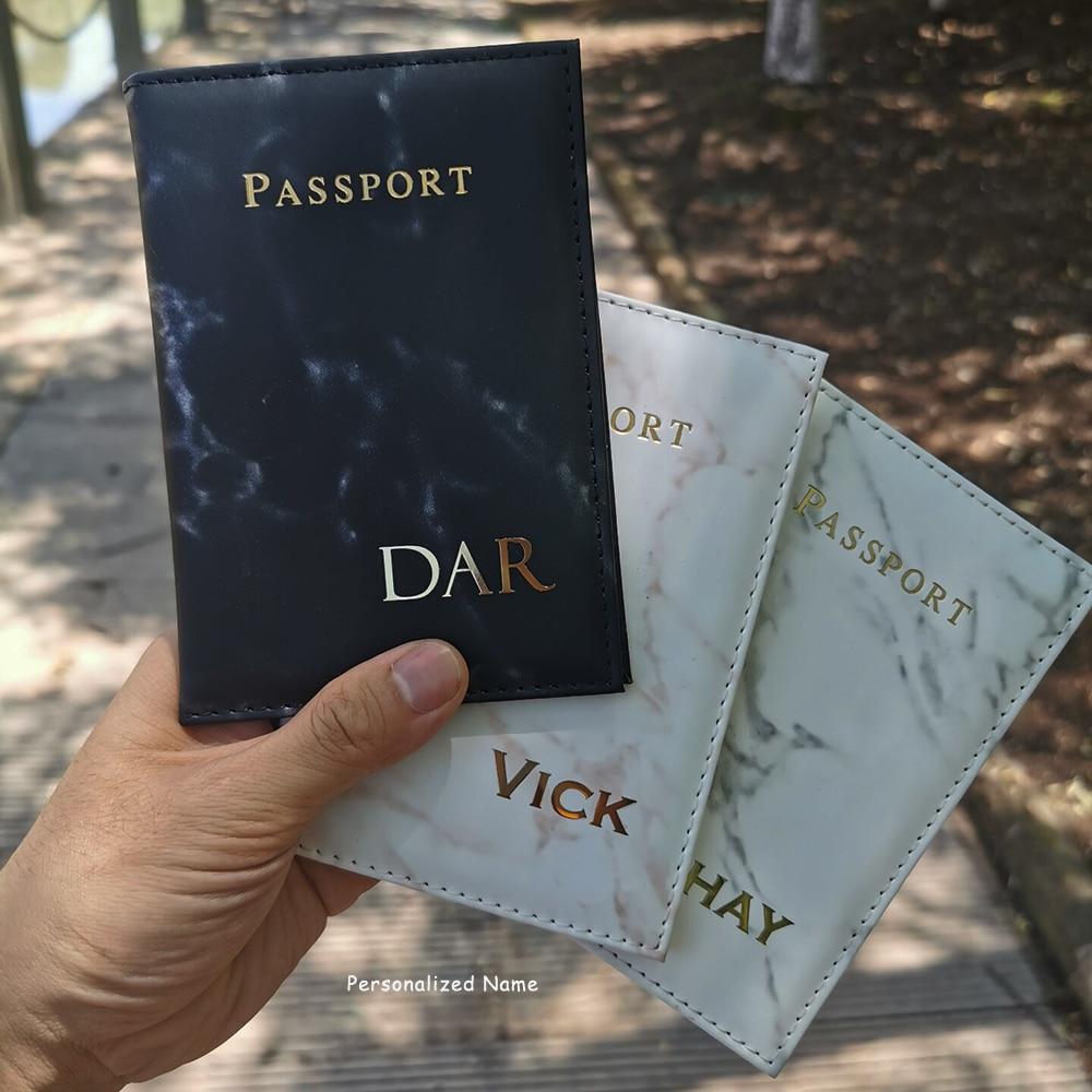 Personalize o nome capa de passaporte carteira de viagem mr/mrs capas para passaportes organizador de documentos de viagem preto passaporte titular caso
