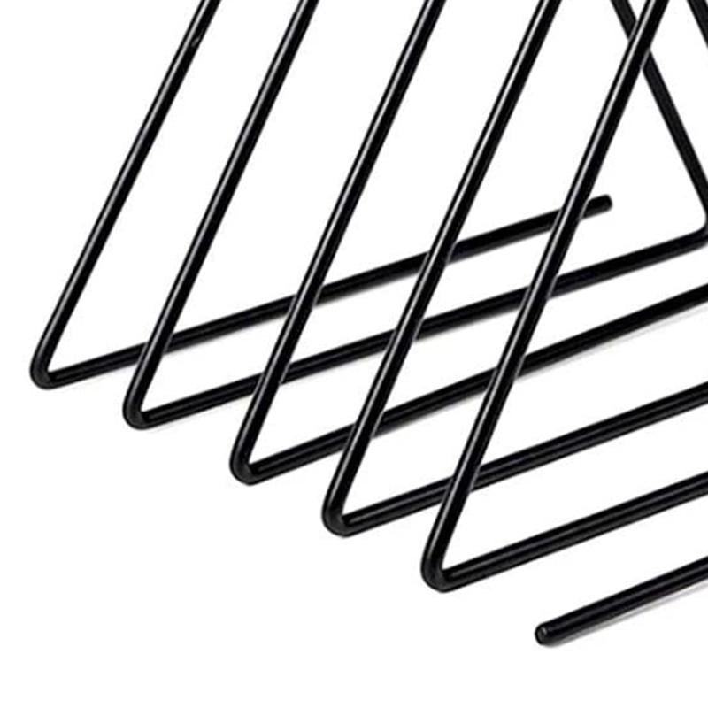 Triple-cornered File Folder Racks Newspaper Organizer Sorter Magazine Holder Book Racks Bookshelf for Home Office Black