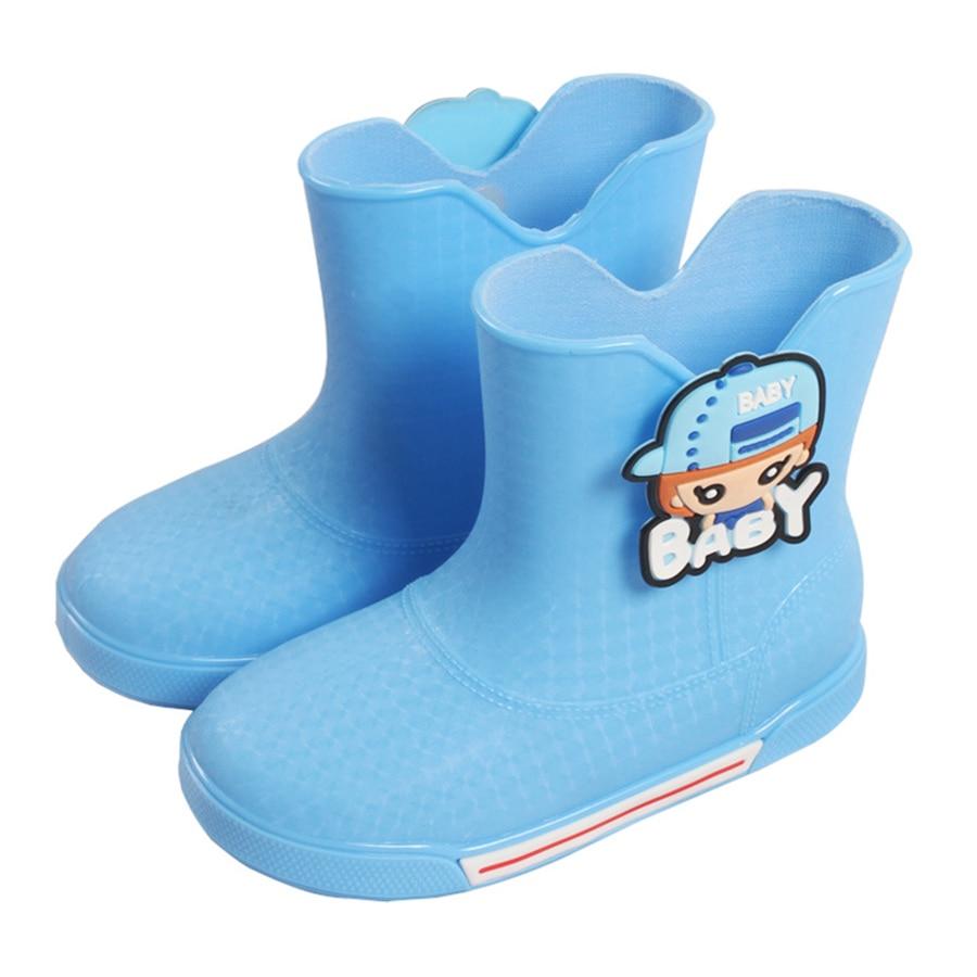 Kids Waterproof Rubber Rain Boots Girls Warm Waterproof Lightweight rain shoes with liners