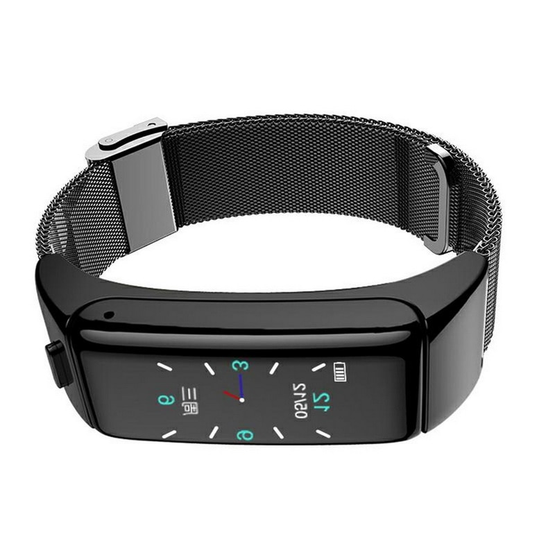Waterproof Smart-Headset Sports Watches Fitness Tracker Screen Wristband Bracelet For IOS Android Bl