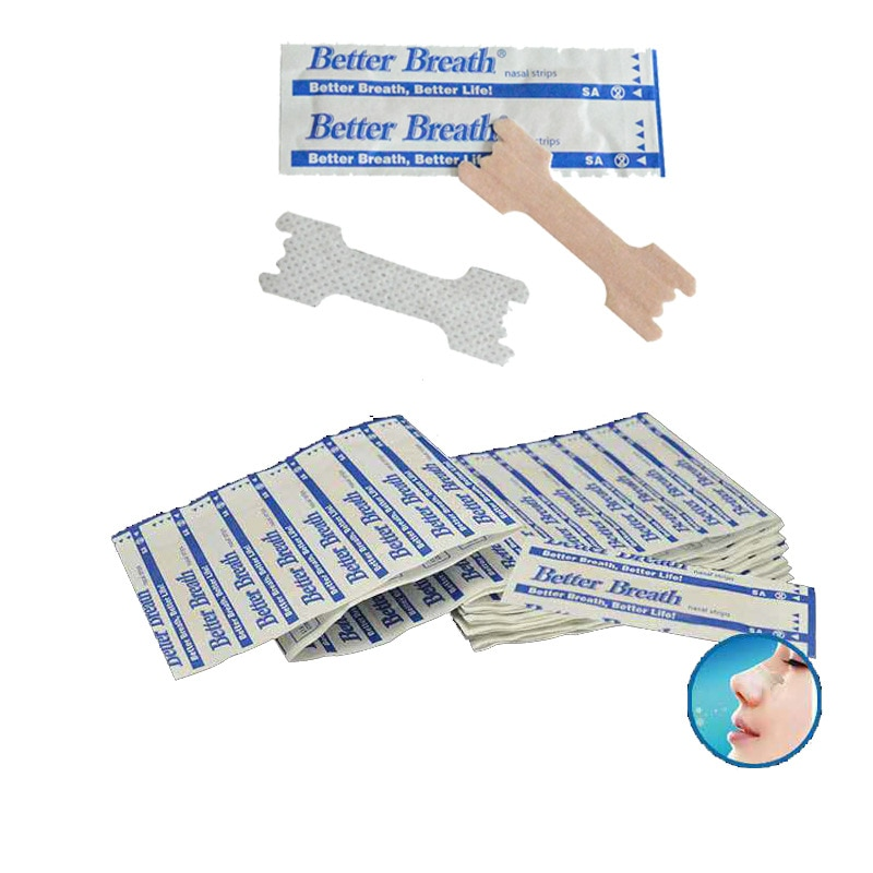 50 Pcs Breathe Nasal Strips Right Way Stop Snoring Anti Snoring Strips Easier Better Breathe Anti Snore Strips Health Care