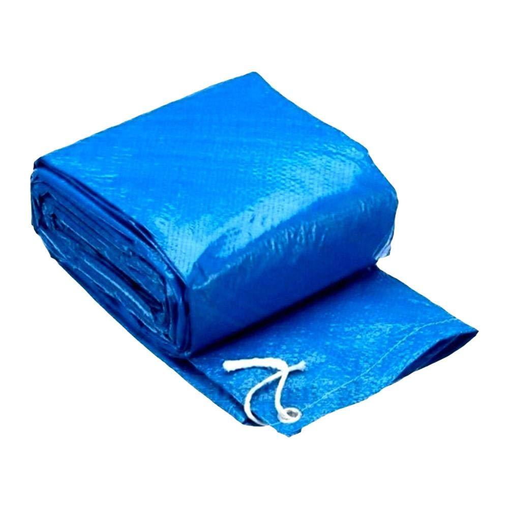 Cubierta de piscina gruesa fácil de usar impermeable hogar duradero Rectangular protección antipolvo mantener limpio sobre el suelo Jardín de poliéster