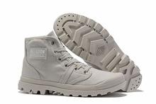 Кроссовки PALLADIUM для мужчин и женщин, кожаные ботинки на шнурках с квадратным носком на весну и осень 2019