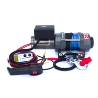 car electric winch 12v 24v 3500lbs electric winch nylon rope with wireless remote control car winch