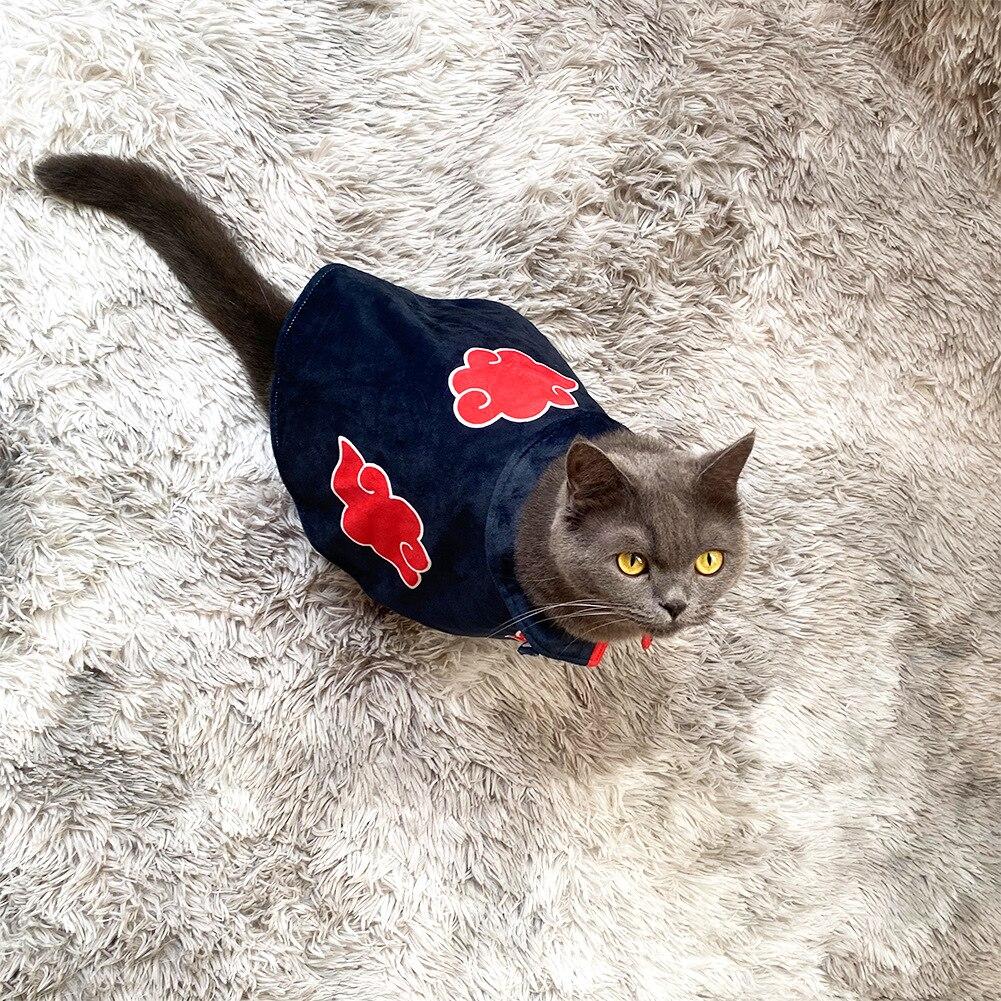 Япония мультфильм творческий Наруто Акацуки Нагато Yahiko Учиха Итачи кошка собака накидка Cos ниндзя одеваются