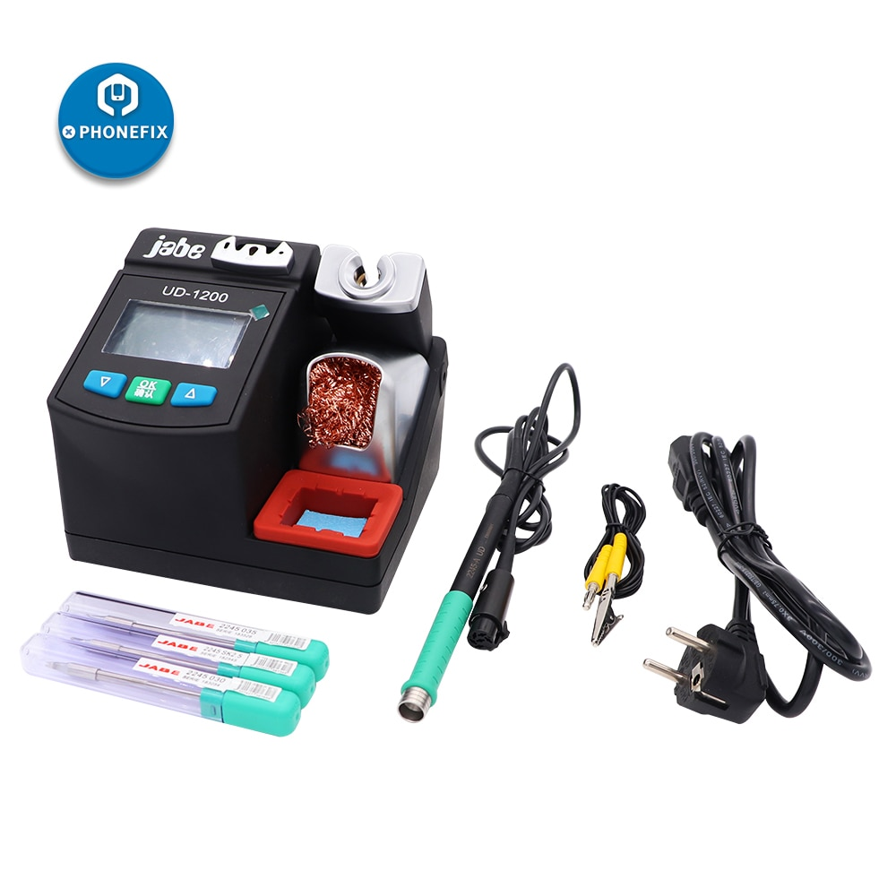 Jabe UD-1200 Soldering Iron Station Precision Lead free 2.5S Rapid Heating Soldering Iron Kit Dual Channel Power Heating System