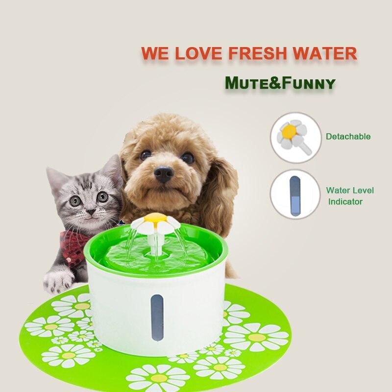 Fuente del gato grande beber tazón gato Alimentador automático filtro de agua para mascotas dispensador de comida de gato de suministros para mascotas Pet dispensador de agua