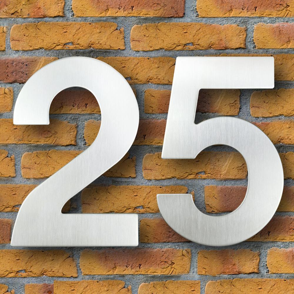 Número de Casa de 30cm, acero inoxidable, señal de dirección #0-9, Huisnummer,...
