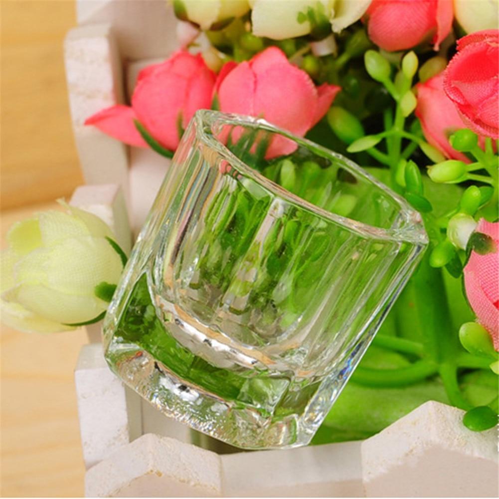 Стеклянная чашка для дизайна ногтей, стеклянная посуда, инструмент для маникюра, для смешивания акриловых жидких салонов, для дома, SSwell