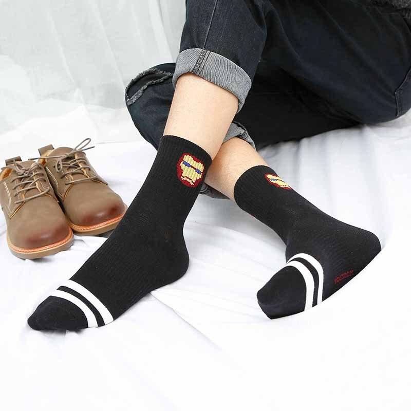 Мужские носки с героями мультфильмов, спортивные классические удобные модные крутые хлопковые носки, Веселые носки