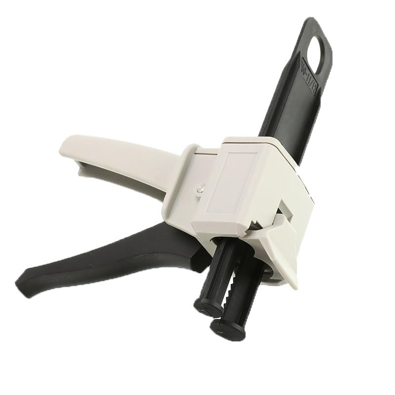 50ml AB pegamento pistola de calafateo de herramienta de mano aplicador pegamento adhesivo cartucho arma 21 11 AB pegamento Manual dispensador de pistola de pegamento