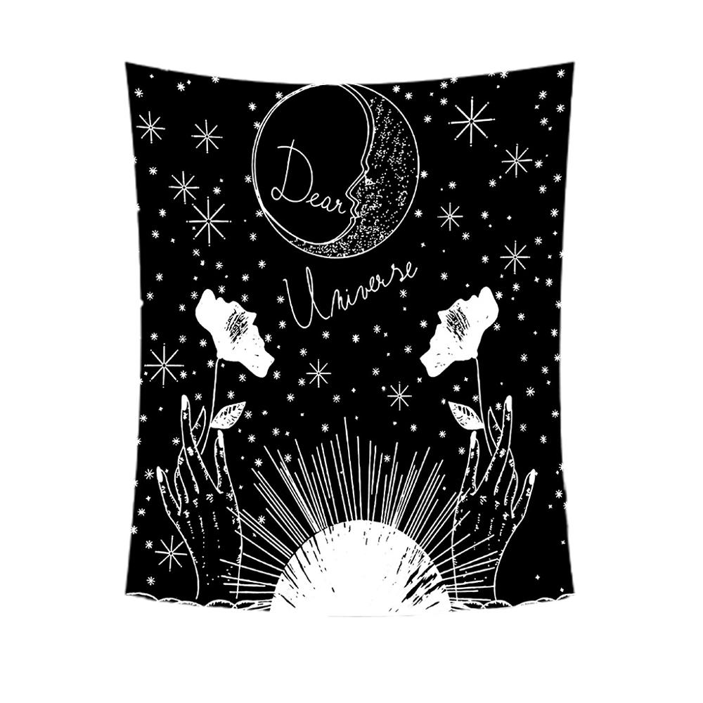 Misterioso Tarot tapiz Sol, estrella, Luna Medieval Europa divinación colgante de pared