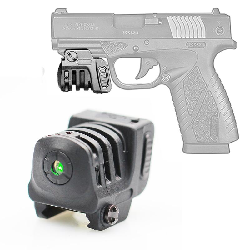 Rechargeable Lightweight Mini Green/Red Laser Sight for pistol handgun airgun picatinny rail Glock 17 19