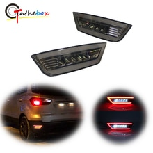 Lampes de recul pour Ford Kuga Ecosport   Lentille fumée 3D à optique arrière réflecteur feu arrière, feux de stop, feux de recul pour Ford Kuga Focus