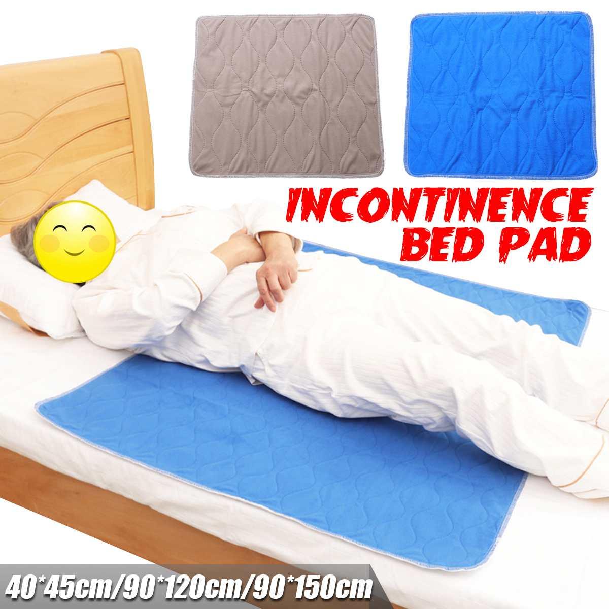Almohadilla de cama de poliéster lavable y reutilizable para niños y adultos de 90x150cm, almohadilla de cama resistente al agua para la incontinencia, funda de cojín para pacientes de 3 tamaños